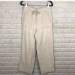 Liz Claiborne Liz Sport 100% Linen Pants Pull On
